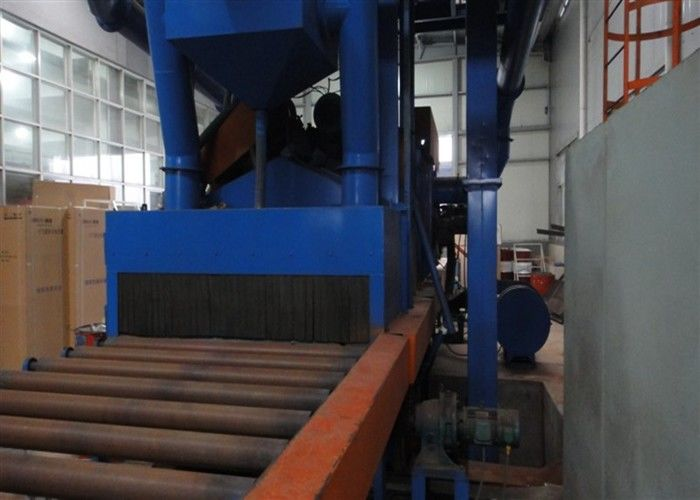 Conveying Type H Beam Shot Blasting Machine With Environmental Dust Collector