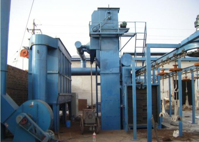 Hanging Hook Type Shot Blasting Machine , Bed Frame Automatic Blasting Machine